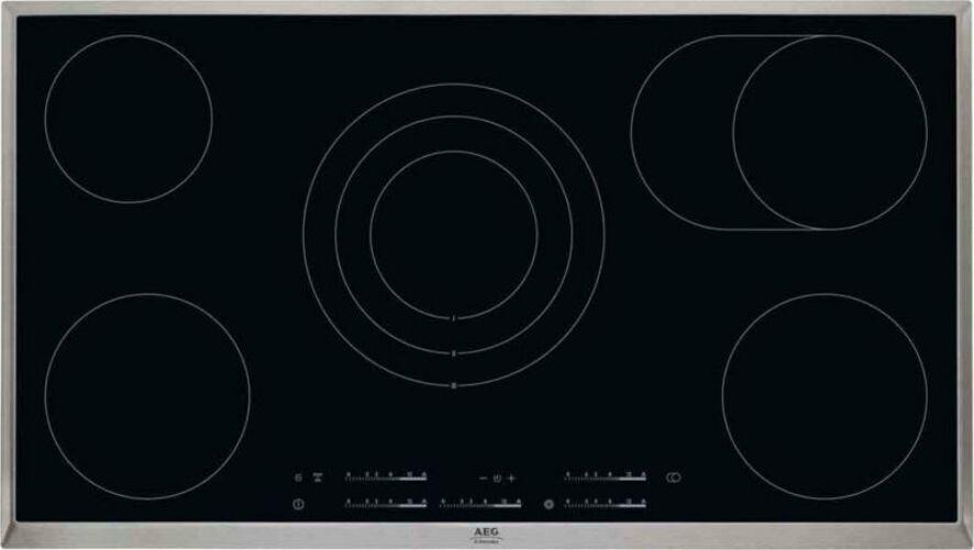 Image of AEG HK955070XB Beépíthető üvegkerámia 5 zónás főzőlapnagyméretű főzőzónával 90cm