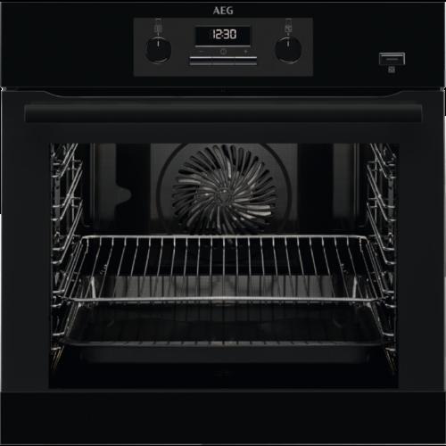 Image of AEG BEB351110B Beépíthető fekete multifunkciós gőzsütő hőlégbefúvás pizza funkció 71L A