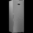 BEKO-RCNE 520E41 ZX Inox alulfagyasztós antibakteriális hűtő NO FROST 330/124L A+++