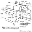 BOSCH HBF133BR0 beépíthető sütő 3D hőlégbefúvással
