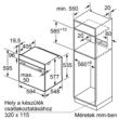 NEFF B4ACF4HN0 Önállóan beépíthető, elektromos sütő, 8 funkció, 71 l
