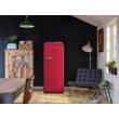 Smeg FAB28RDRB3 egyajtós hűtőszekrény fagyasztóval matt rubintvörös jobbos