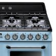 Smeg TR4110AZ Victoria rusztikus világoskék cooker angol gázűzhely gőztisztítás 110cm A