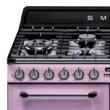 Smeg TR4110RO Victoria rusztikus rózsaszín cooker angol gázűzhely gőztisztítás 110cm A