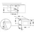 WHIRLPOOL AMW 423 IX Inox/fekete beépíthető mikrohullámú sütő 3D melegítés 22L 750W
