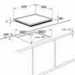 AEG HK634021XB Beépíthető üvegkerámia főzőlap nagyméretű kerettel gyors felfűtés