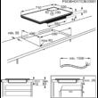 AEG IKE74451FB Beépíthető keret nélküli indukciós főzőlap Multiple Bridge zónákkal 70cm