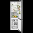 AEG RCB83724MX Inox alulfagyasztós kombinált hűtőszekrény No Frost 250/91L A++
