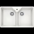 Blanco VILLAE Farmhouse 2 medencés fényes fehér színű  kerámia mosogatótálca