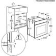 ELECTROLUX EZB3400AOX  beépíthető inox multifunkciós sütő hőlégbefúvással 57L A