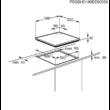 Electrolux KGG6426K Beépíthető fekete edzett üveg gázfőzőlap egykezes szikragyújtással