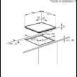 ZANUSSI ZGH62414XA Beépíthető inox gázfőzőlap jobb oldali vezérléssel szikragyújtással