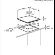 ZANUSSI ZGO65414BA Beépíthető fekete edzett üveg felületű gázfőzőlap szikragyújtással