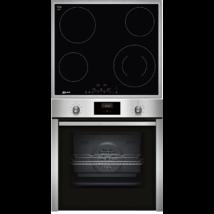 Neff B3CCE4AN0+T16BD56N0 elektromos sütő/üvegkerámia főzőlap szett, 7 funkció, 71 l, Touch Control, Hide ajtó