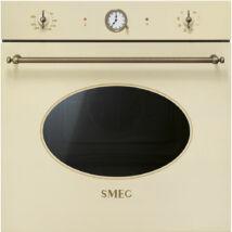 Smeg SFP805PO Colonial beépíthető rusztikus pirolitikus bézs/bronz sütő analóg óra 70L A