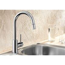 BLANCO MIDA-S Kihúzható zuhanyfejes króm csaptelep