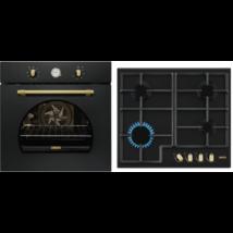 Zanussi ZOB33701CR beépíthető rusztikus sütő - ZGH66414CA gázfőzőlap szett
