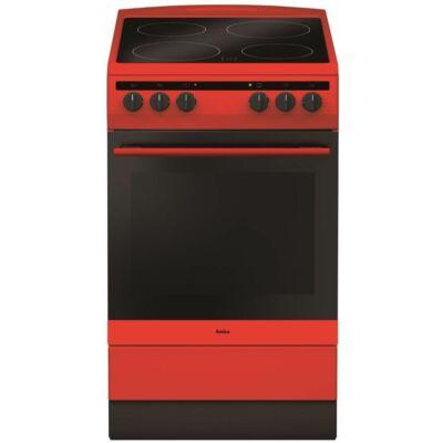 Amica 55729 Piros Elektromos Kerámialapos Villanytűzhely 50cm