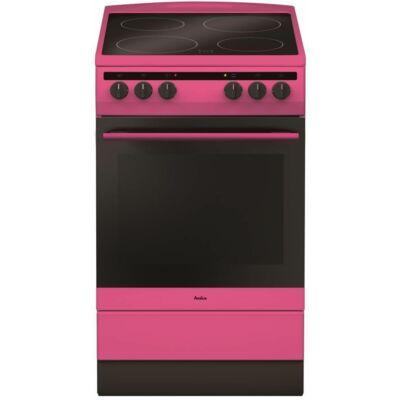 Amica 55730 Pink Kerámialapos Villanytűzhely 50cm