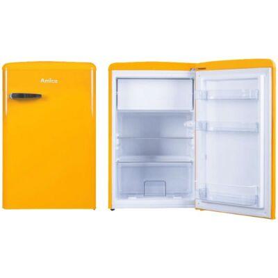 Amica KS 15613 Y Egyajtós retro hűtőszekrény fagyasztóval narancssárga 93/13L A++