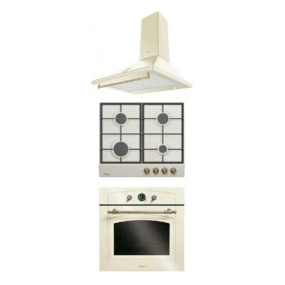 Amica EBR 7331 W AA beépíthető rusztikus sütő -  DRP 6412 ZAW rusztikus gázfőzőlap szett