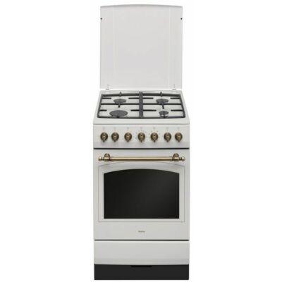 Amica 55454 (515GE2.33ZpMsDpA(Ci)) Fehér Rusztikus Kombinált Tűzhely 50cm