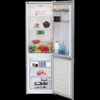 BEKO RCSA-270K30XN Inox alulfagyasztós kombinált hűtőszekrény 175/87L