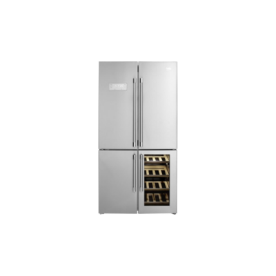 BEKO GN-1416220 CX Side by Side Inox hűtőszekrény borhűtővel NO FROST 376/72L A+