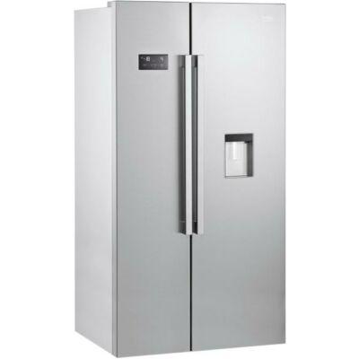 BEKO GN-163220 S Side by Side Inox hűtőszekrény vízadagolóval NO FROST 364/190L A+