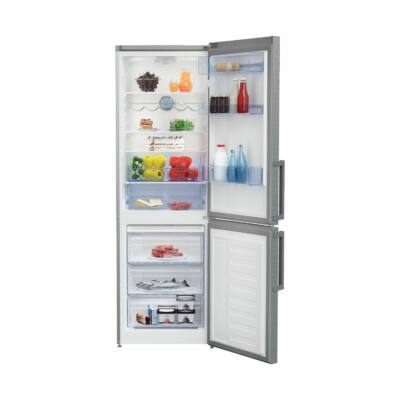 BEKO RCSA-330K31 PT Inox alulfagyasztós kombinált hűtőszekrény 197/95L A++