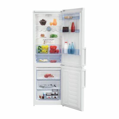 BEKO RCSA-330K31 W Fehér alulfagyasztós hűtőszekrény NO FROST 197/95L A++