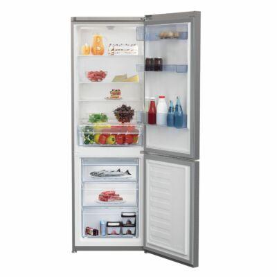 BEKO RCSA 365K20 S Inox alulfagyasztós kombinált hűtőszekrény 233/113L A+