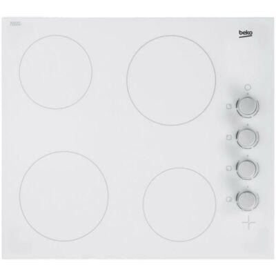 Beko HIC 64100 W Beépíthető fehér üvegkerámia főzőlap jobb oldali gombokkal