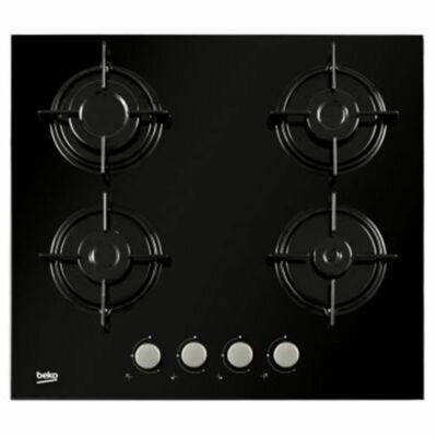 Beko HILG-64220S Beépíthető fekete edzett üveg felületű gázfőzőlap szegély nélkül
