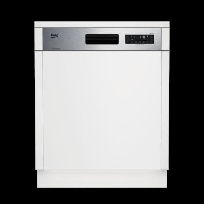 Beko DSN 28430 X Félig beépíthető mosogatógép külső kijelzővel 14 teríték