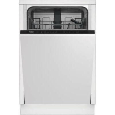 Beko DIS 35020 Teljesen beépíthető keskeny mosogatógép 45cm 10 terítékes
