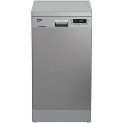 BEKO DFS 28021 X Keskeny ezüst mosogatógép LCD kijelzővel 45cm 10 teríték A++