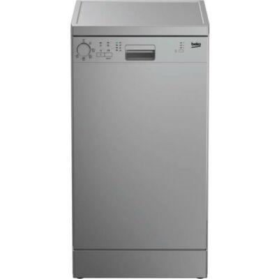 BEKO DFS-05013 S Keskeny ezüst mosogatógép LCD kijelzővel 45cm 10 teríték A+