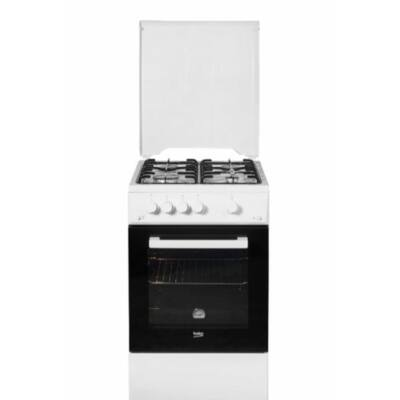 BEKO FSE-52010 FW Fehér keskeny kombinált tűzhely fémtetővel 55L 50cm