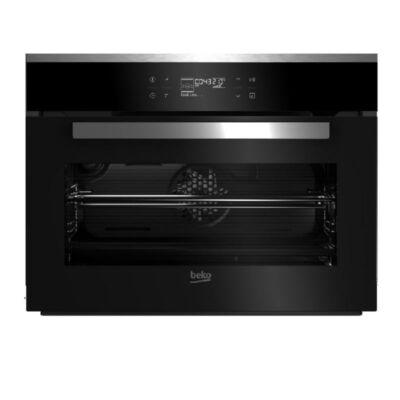 Beko BCS-18500X Inox légkeveréses beépíthető kompakt sütő Pizza funkcióval 44L A-20%