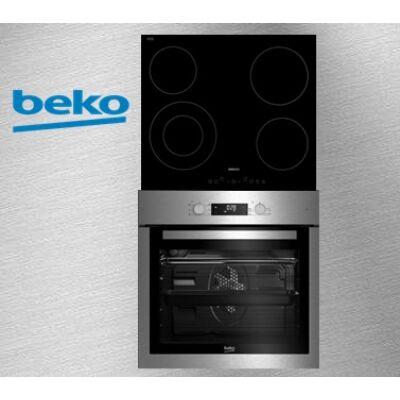 Beko BIE-26300X+HIC-64402 Beépíthető elektromos sütő-üvegkerámia főzőlap szett