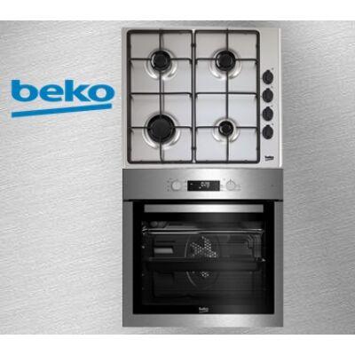 BEKO BIE-26300X+HIZG-64120 SX beépíthető elektromos sütő-gázfőzőlap szett, inox