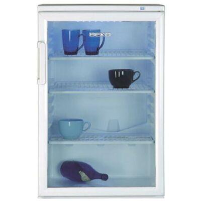 Beko WSA-14000 Fehér egyajtós hűtőszekrény  üvegajtóval fagyasztó nélkül 130L B