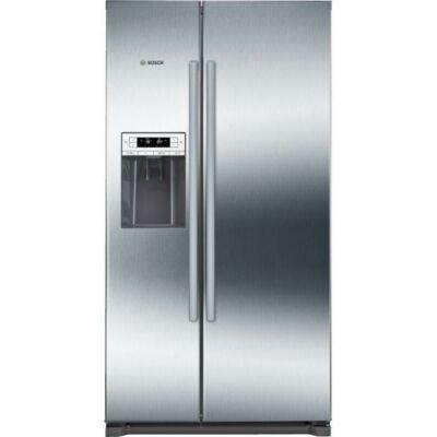 Bosch KAD90VI20 Inox Side by side hűtőszekrény jégadagolóval NO FROST 370/163L A+