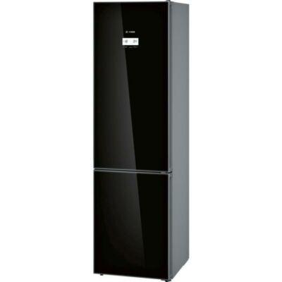 BOSCH KGN39LB35 Fekete üveg alulfagyasztós kombinált hűtő NO FROST 279/87L A++
