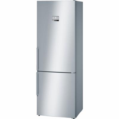 BOSCH KGF56PI40 Inox alulfagyasztós kombinált hűtő NO FROST 375/105L A+++