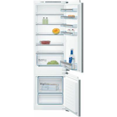Bosch KIV87VF30 beépíthető kombinált alulfagyasztós hűtőszekrény 209/63L A++