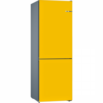 BOSCH KVN36IF3A Napraforgó színű kombinált hűtő kijelzővel NO FROST 237/87L A++
