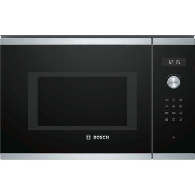 Bosch BEL554MS0 beépíthető inox/fekete érintőgombos grilles mikrohullámú sütő 25L 900W