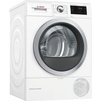 Bosch WTW876WBY Fehér hőszivattyús szárítógép DirectSelect kijelző 60cm mély 8kg A+++